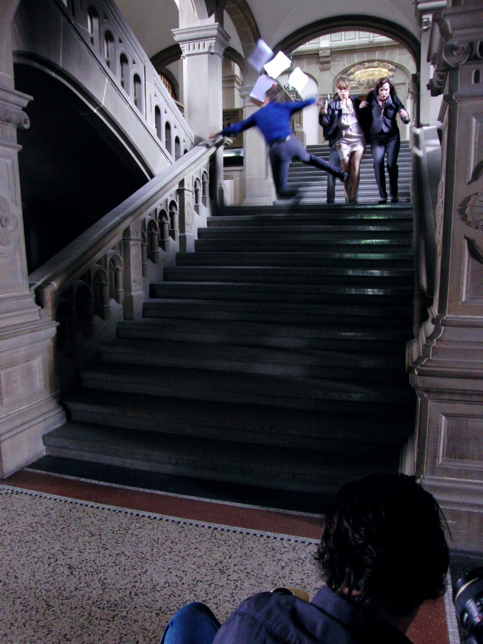 Martin Goeres, Stunt, Movie, Treppensturz
