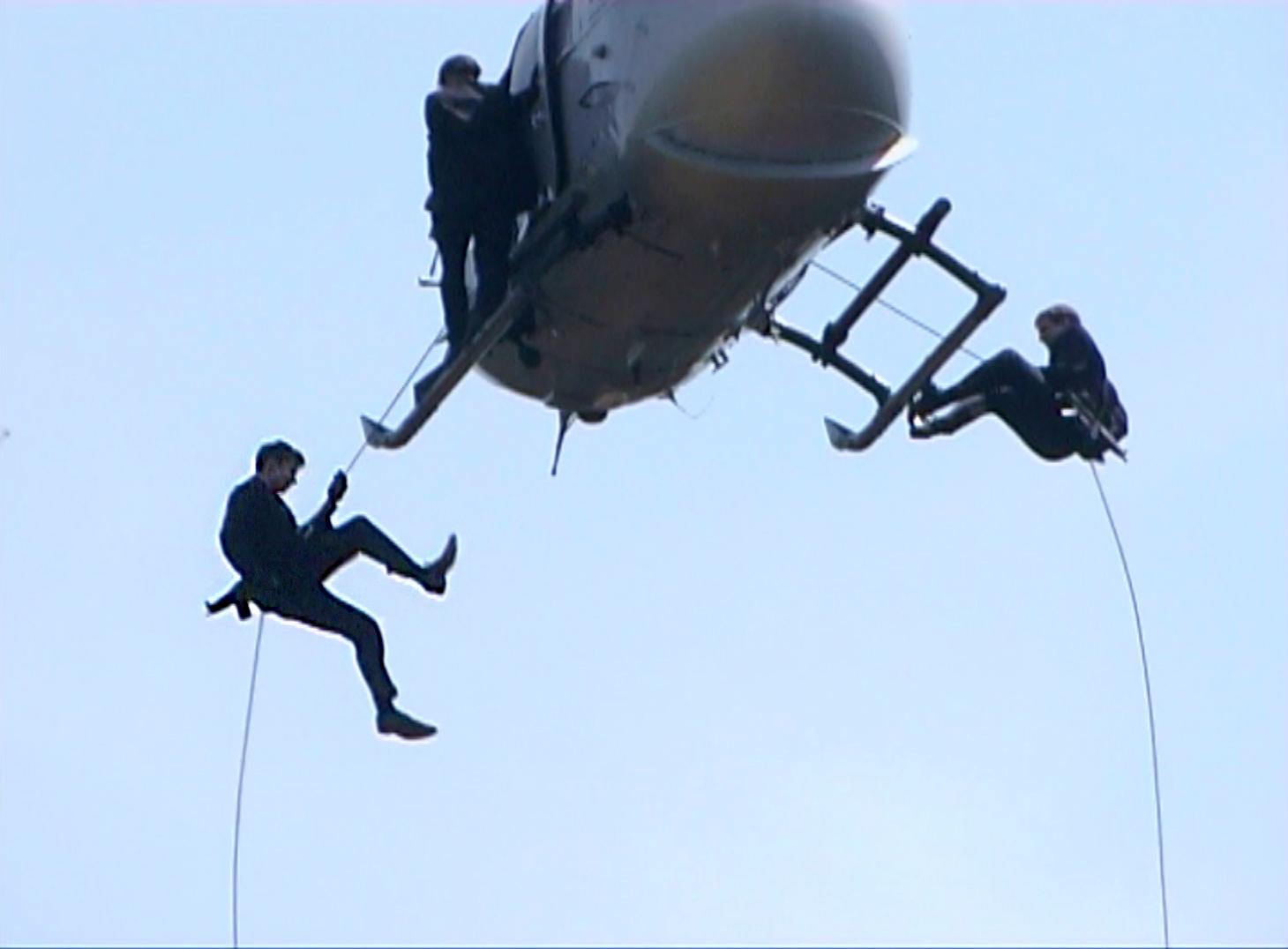 Martin Goeres, Abseilen, Hubschrauber