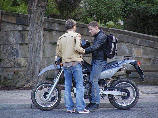 Martin Goeres, Stuntdriver, acting, 750er bike