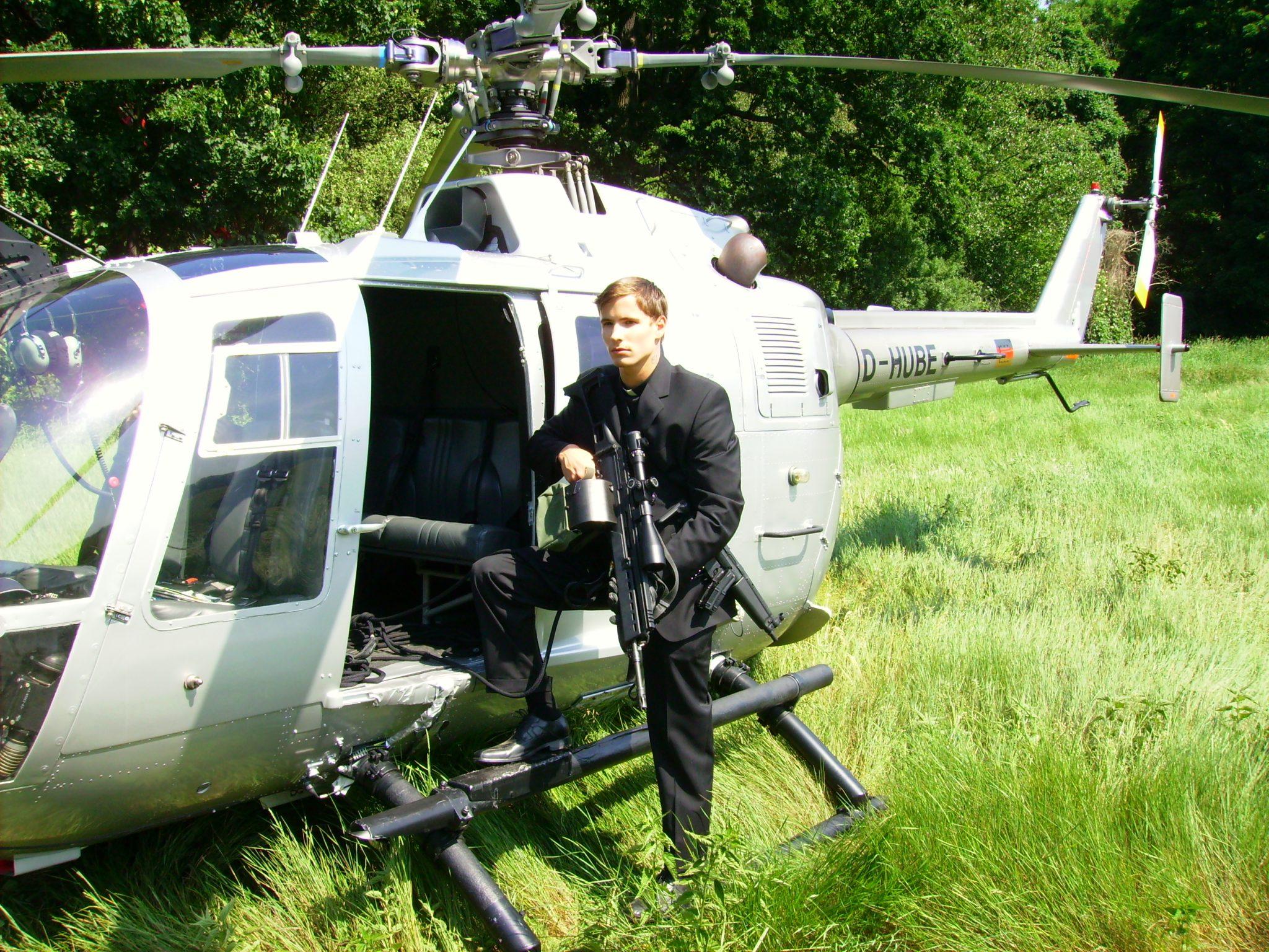 Martin Goeres, Abseilen, Hubschrauber, Lasko die Faust Gottes