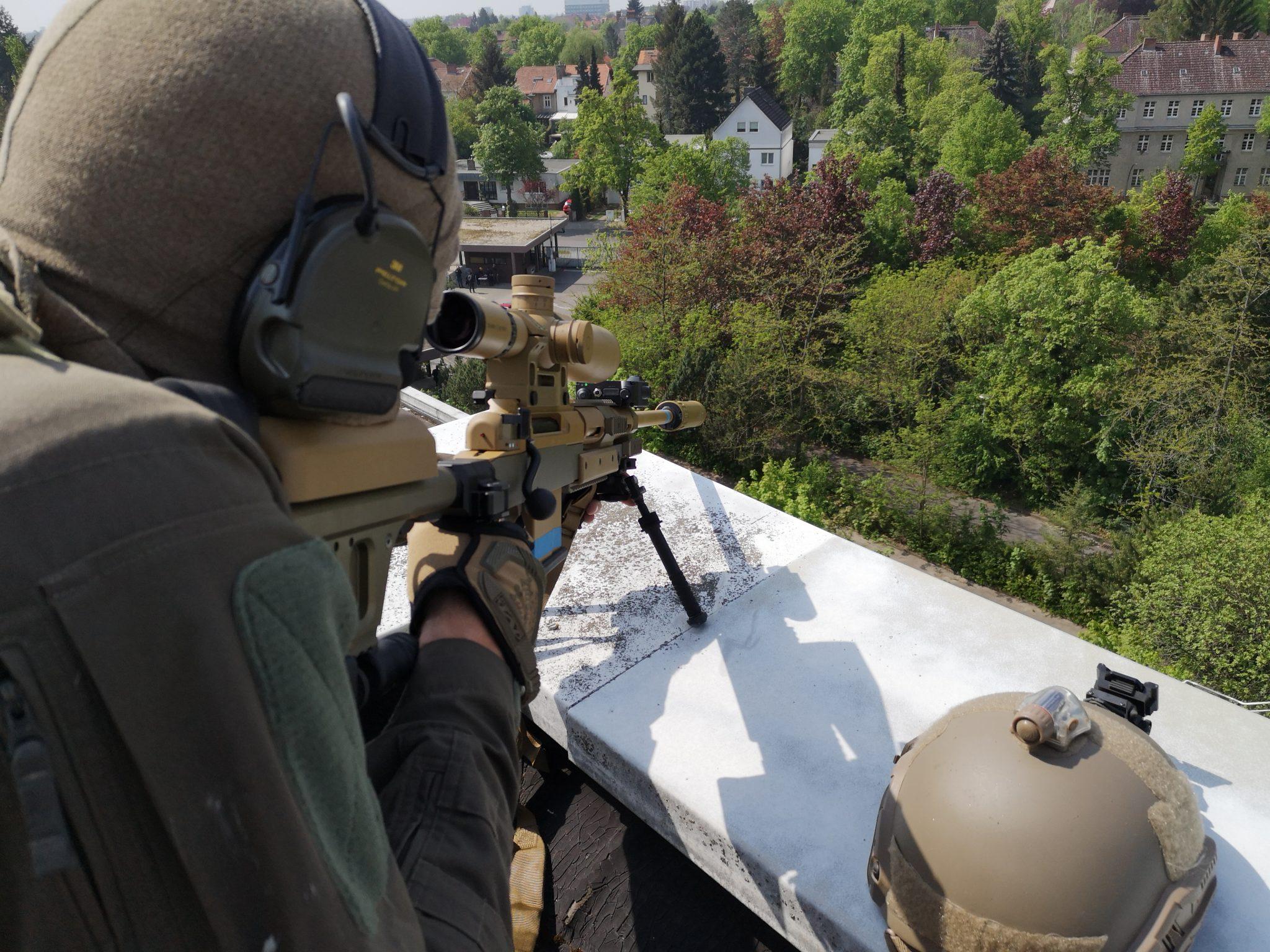MG Action, MG Forces, Special Forces für Film, SEK Film, GSG9 Film, Polizei Film, Scharfschütze, Sniper post, Haenel RS9